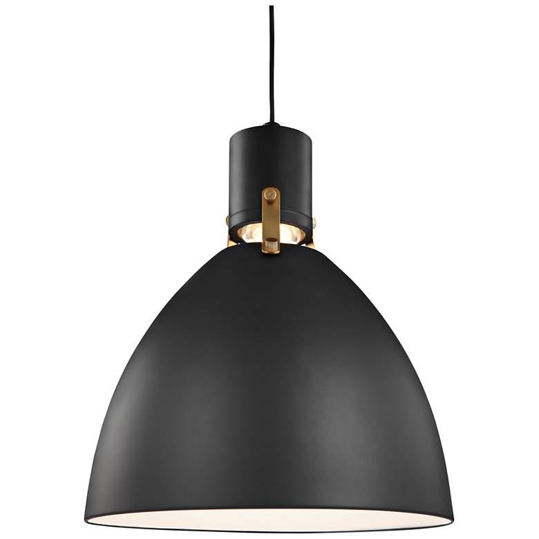 """Feiss Brynne 14""""W Matte Black LED Pendant Light"""