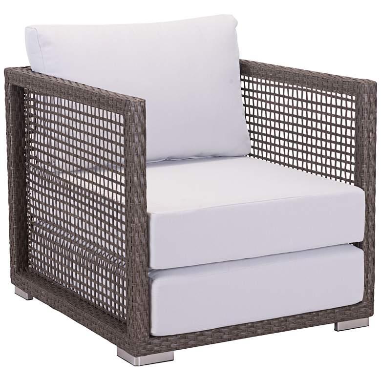 Zuo Coronado Brown and Light Gray Outdoor Armchair