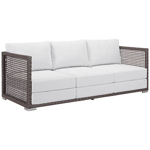 Zuo Coronado Brown and Light Gray Outdoor Sofa