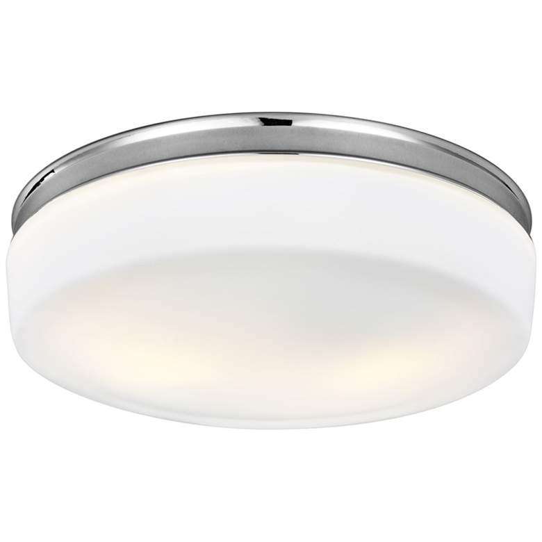 """Feiss Issen 13 1/2"""" Wide 2-Light Chrome Ceiling"""