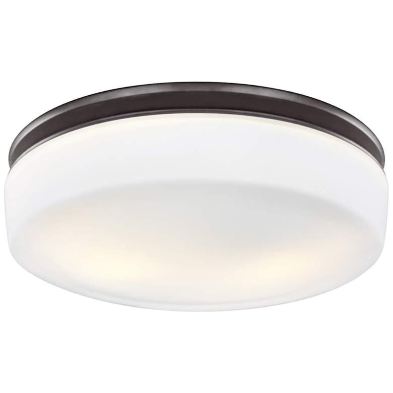 """Feiss Issen 13 1/2""""W 2-Light Oil Rubbed Bronze Ceiling Light"""