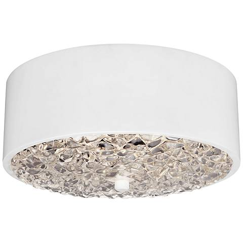 "Feiss Dori 13"" Wide 2-Light Flat White Ceiling Light"