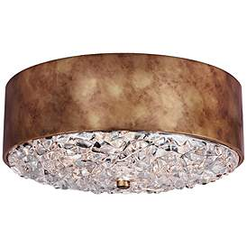 Feiss Dori 18 Wide 3 Light Burnished Br Ceiling