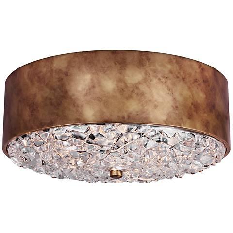 "Feiss Dori 18"" Wide 3-Light Burnished Brass Ceiling Light"