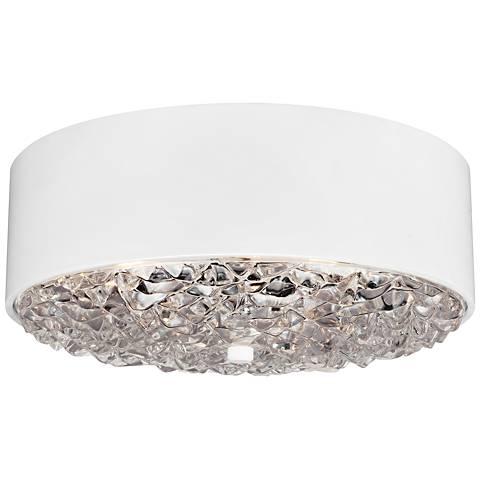 """Feiss Dori 18"""" Wide 3-Light Flat White Ceiling Light"""