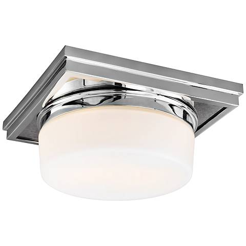 "Feiss Mandie 12"" Wide 2-Light Chrome Ceiling Light"