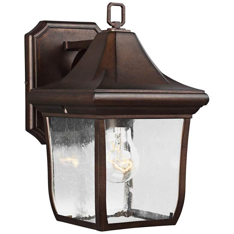 """Feiss Oakmont 10 3/4"""" High Patina Bronze Outdoor"""