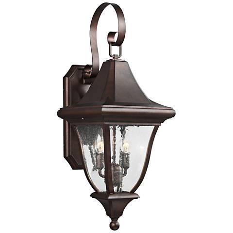 """Oakmont 26 1/2""""H Patina Bronze 2-Light Outdoor Wall Light"""
