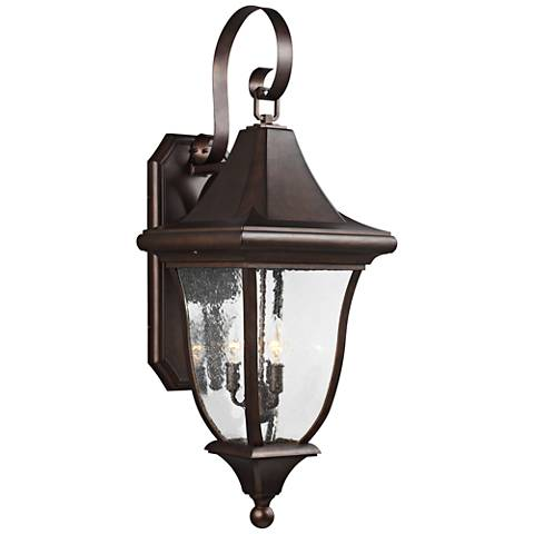"Oakmont 33 3/4""H Patina Bronze 3-Light Outdoor Wall Light"