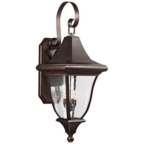 """Oakmont 43 3/4""""H Patina Bronze 4-Light Outdoor Wall Light"""
