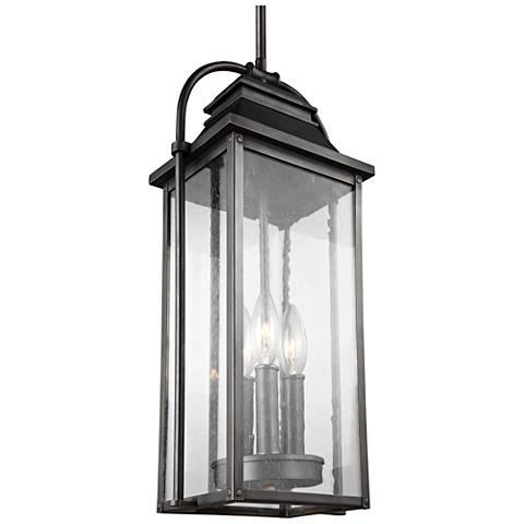 "Wellsworth 18 3/4""H Bronze 3-Light Outdoor Hanging Light"