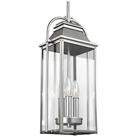 "Wellsworth 8 1/2""H Brushed Steel 3-Light Hanging Light"