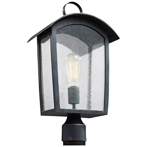 "Feiss Hodges 19 3/4"" High Ash Black Outdoor Post Light"
