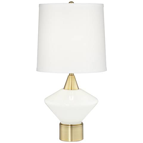Calvin Antique Brushed Brass Modern Table Lamp