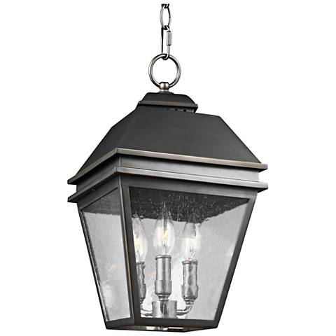 "Herald 9 1/2"" High Bronze 3-Light Outdoor Hanging Light"