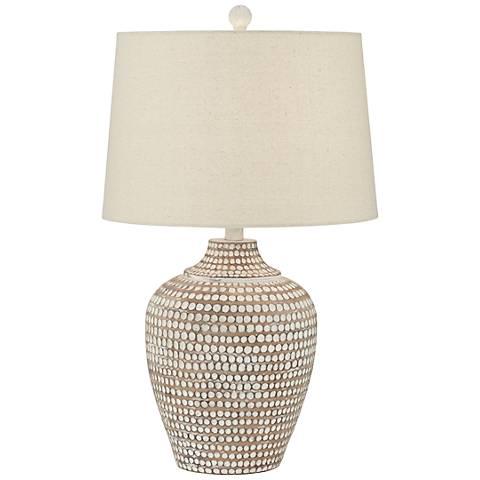 Alese Neutral Earth Polka Dot Jug Ceramic Table Lamp