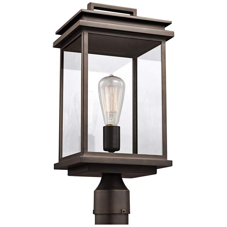 "Feiss Chappman 16 3/4""H Antique Bronze Outdoor Post Light"