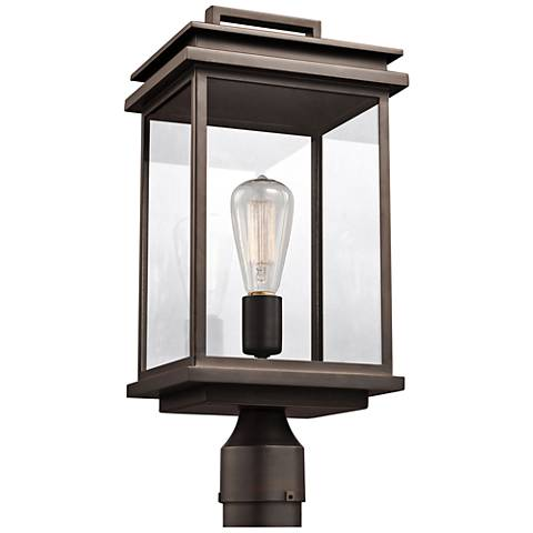"Feiss Chappman 16 3/4""H Antique Bronze Outdoor Post Light"