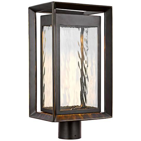 "Urbandale 18 3/4"" High Antique Bronze LED Outdoor Post Light"