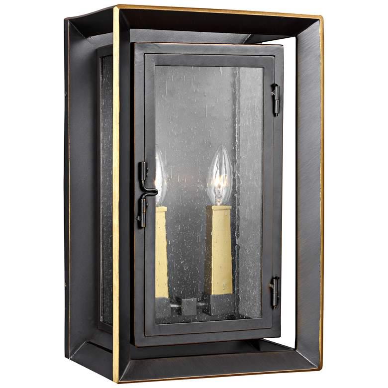 """Urbandale 16 1/4""""H Antique Bronze 2-Light Outdoor Wall Light"""