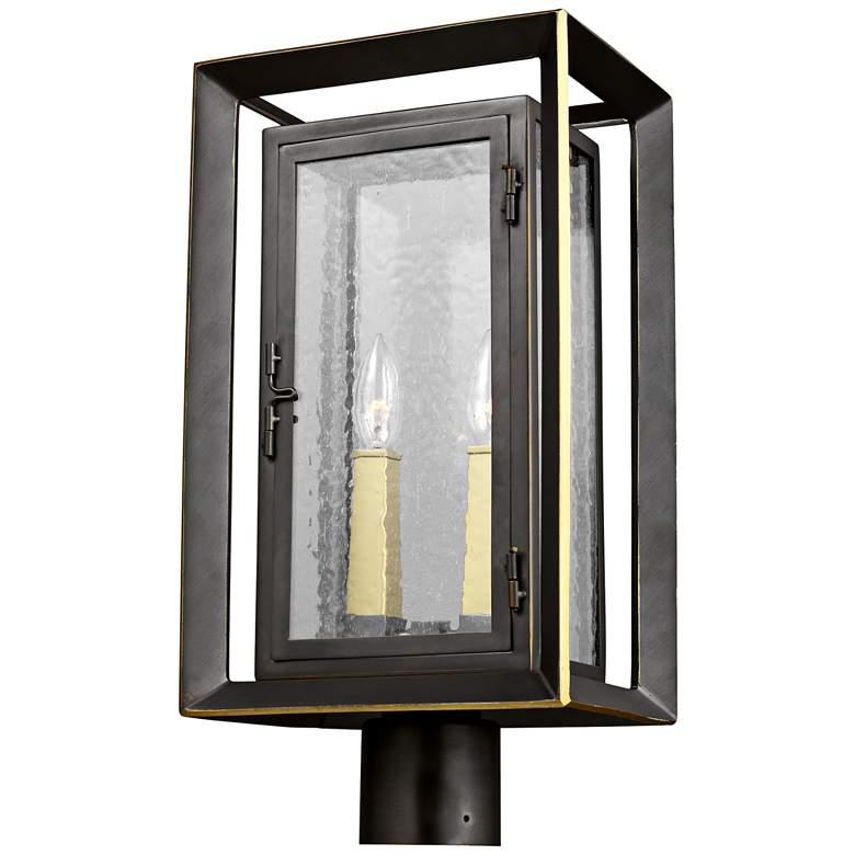"Urbandale 18 3/4""H Antique Bronze 2-Light Outdoor Post Light"