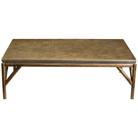 Uttermost Kanti Champagne and Weathered Oak Coffee Table