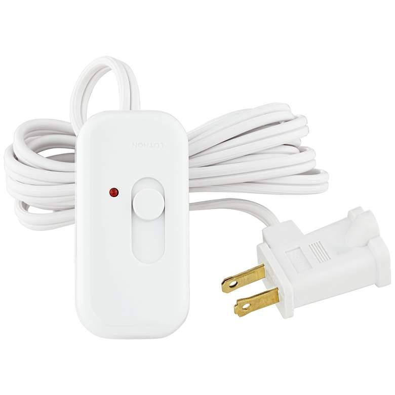 Lutron® White Finish 300 Watt Plug-In Lamp Dimmer