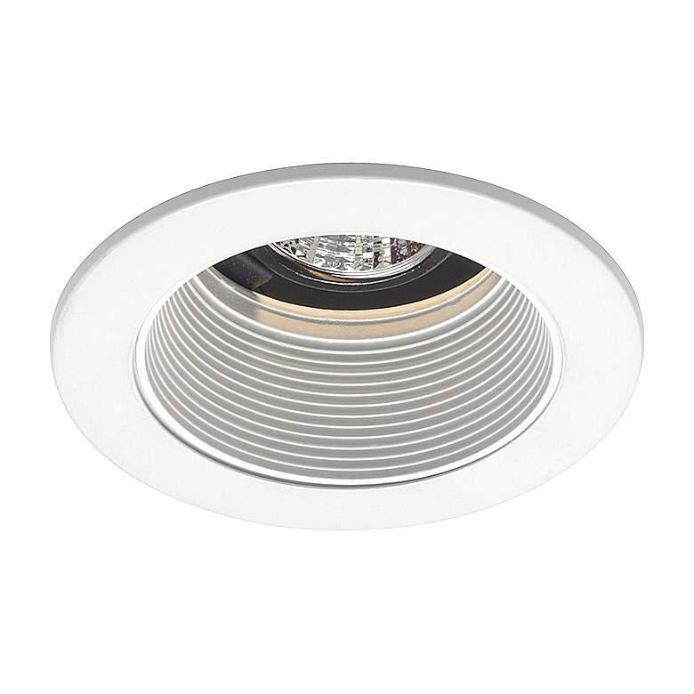 "Juno 4"" Low Voltage White Baffle Recessed Light"