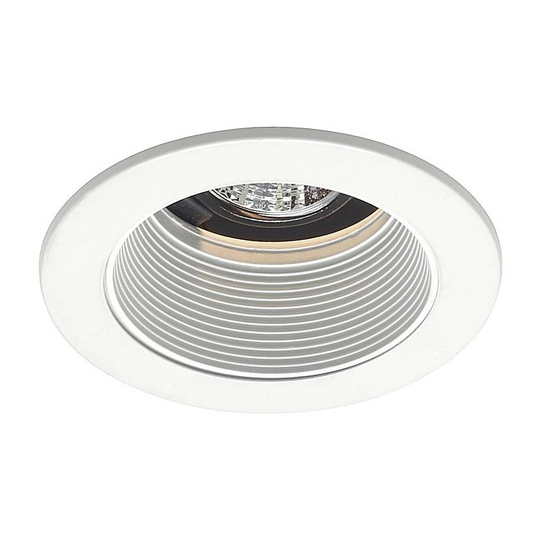 """Juno 4"""" Low Voltage White Baffle Recessed Light Trim"""
