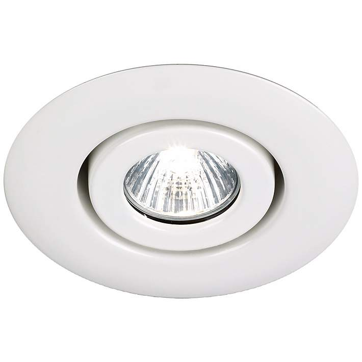 White Gimbal Recessed Light Trim
