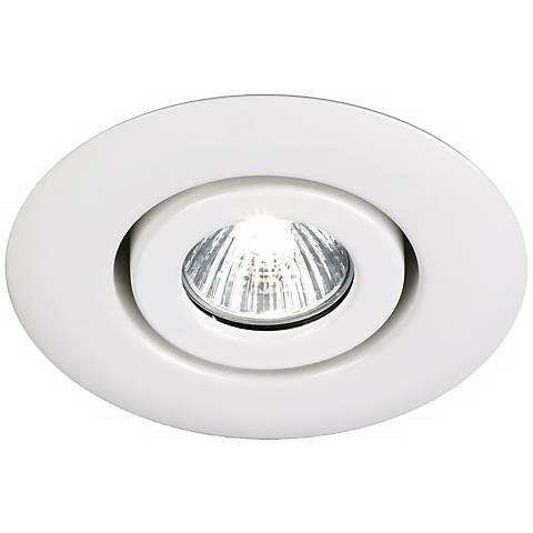 Juno 4 Low Voltage White Gimbal Recessed Light Trim