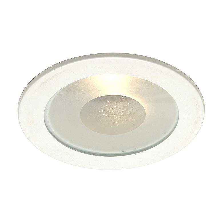"Juno 4"" Line Voltage Frosted Lens Shower Recessed Light Trim"
