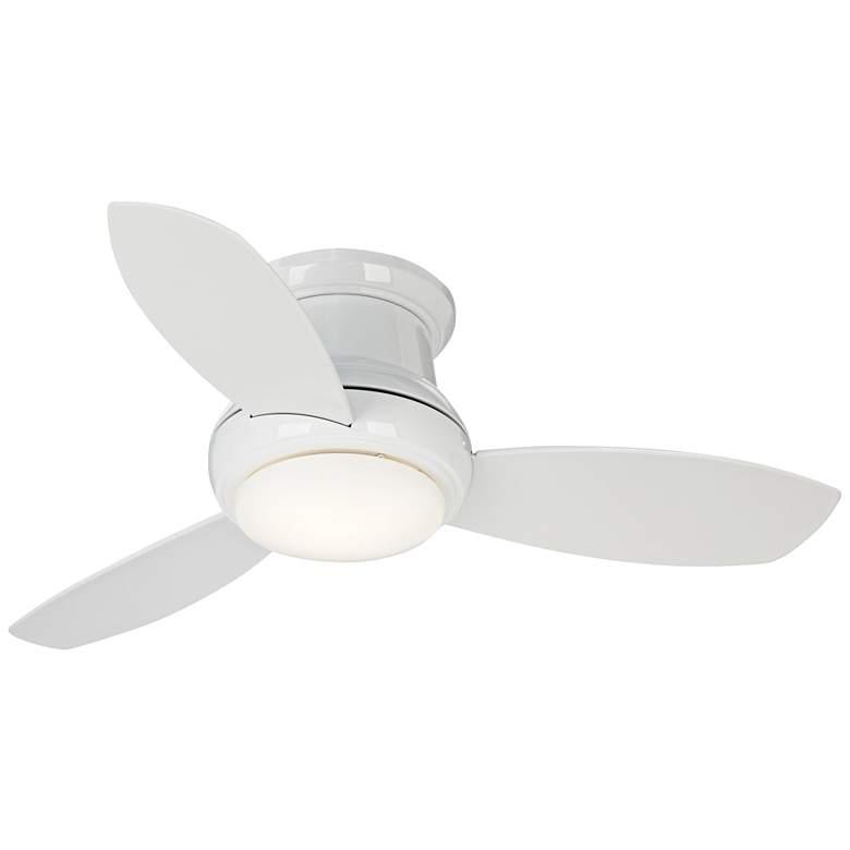 "44"" Concept II White Flushmount LED Ceiling Fan"