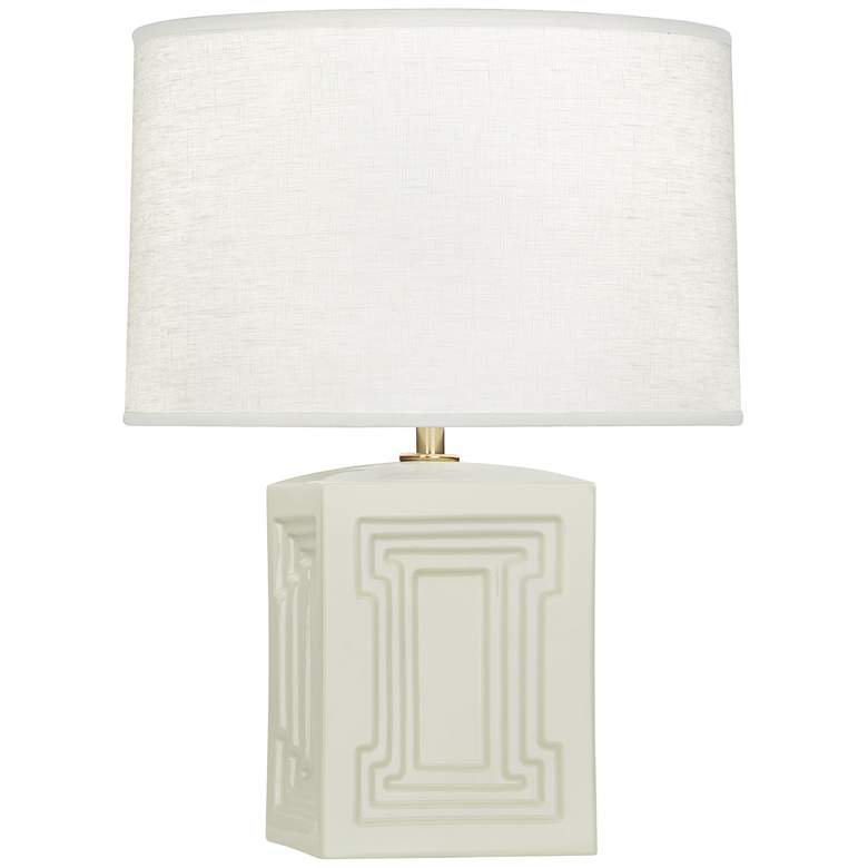 "Nottingham 18 1/4"" High White Ceramic Accent Table Lamp"