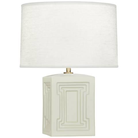 """Nottingham 18 1/4""""H White Ceramic Accent Lamp"""