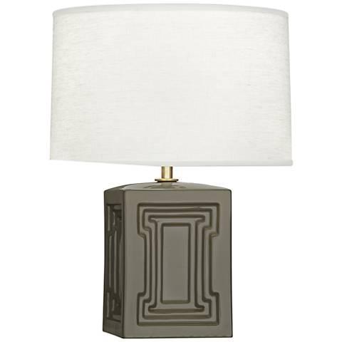 """Nottingham 18 1/4""""H Gray Ceramic Accent Lamp"""