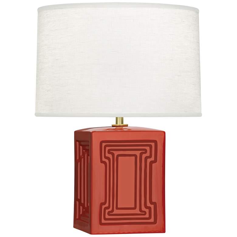 """Nottingham 18 1/4""""H Red Ceramic Accent Lamp"""