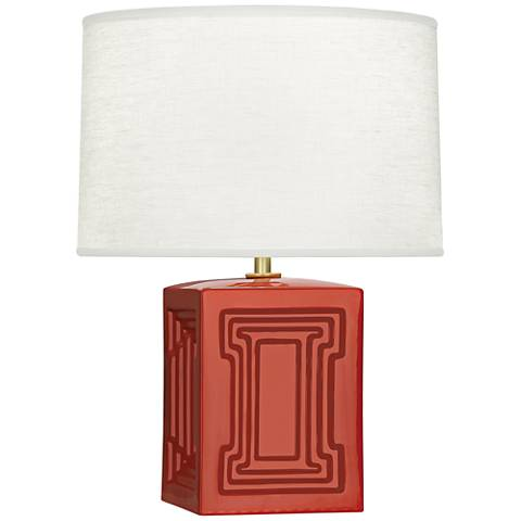 "Nottingham 18 1/4""H Red Ceramic Accent Lamp"