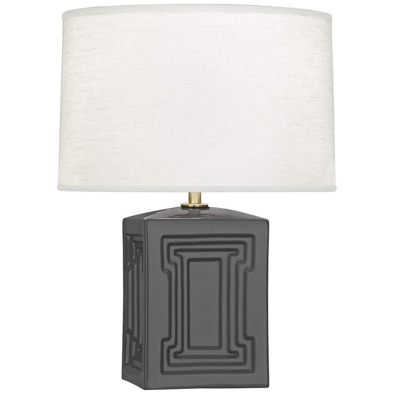 """Nottingham 18 1/4""""H Black Ceramic Accent Lamp"""