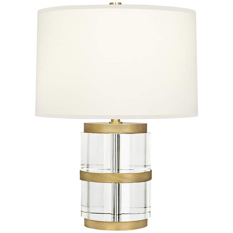 Robert Abbey Wyatt Clear Crystal Column and Fondine Accent Lamp