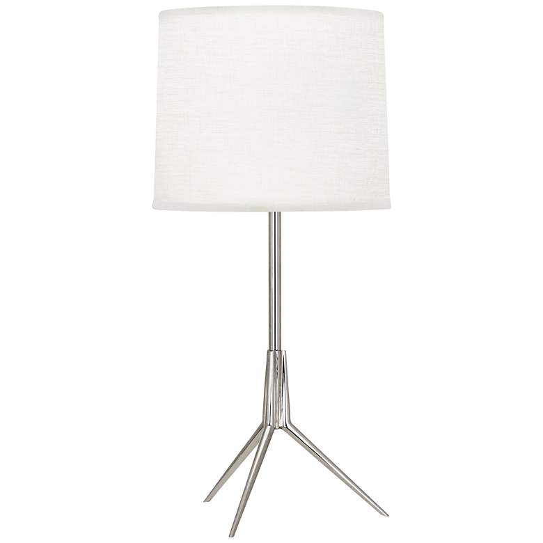 Robert Abbey Martin Polished Nickel Modern Tripod Accent Lamp