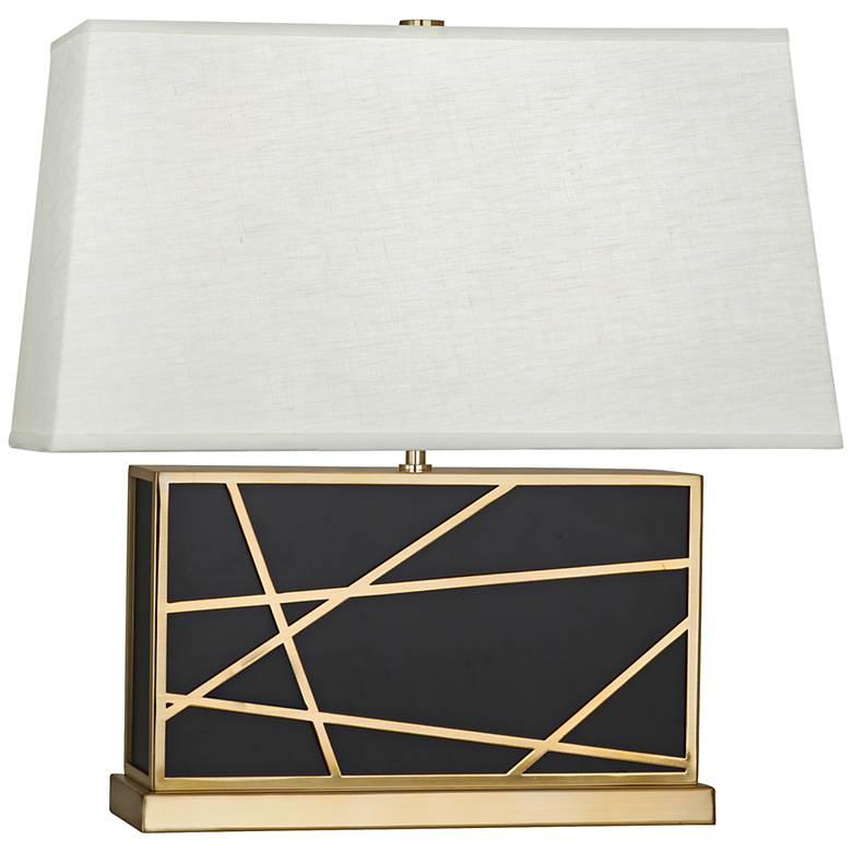 Robert Abbey Michael Berman Bond Wide Bronze-Oyster Table Lamp