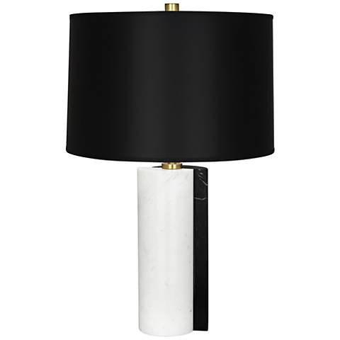Jonathan Adler Canaan Black Dual-Marble Table Lamp