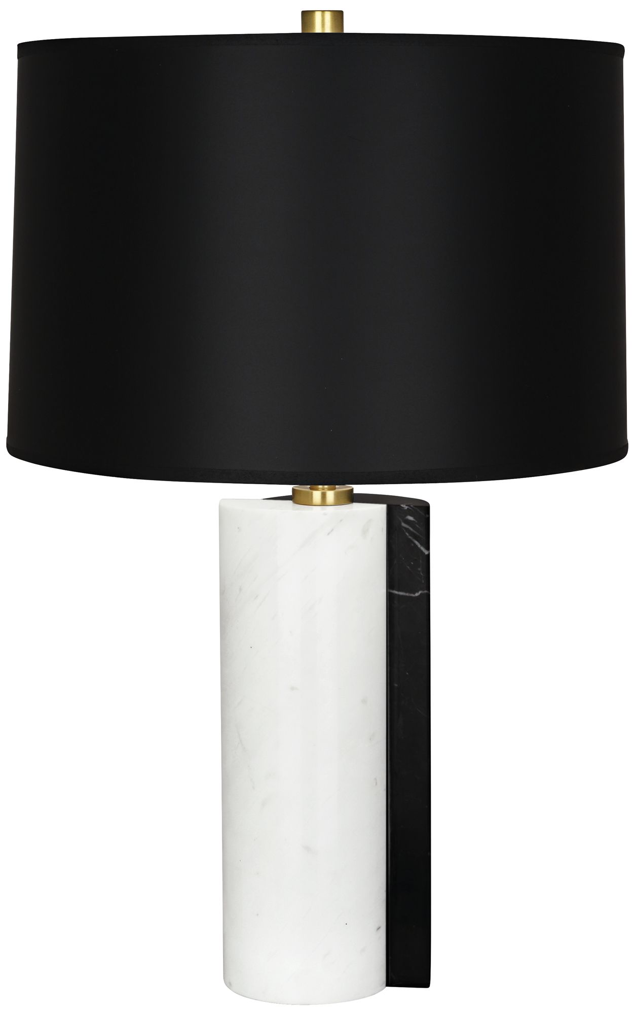 Jonathan Adler Canaan Black Dual Marble Table Lamp
