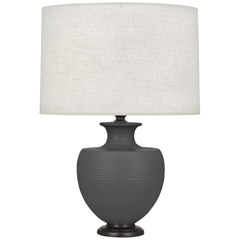 Michael Berman Atlas Bronze and Ash Ceramic Table Lamp