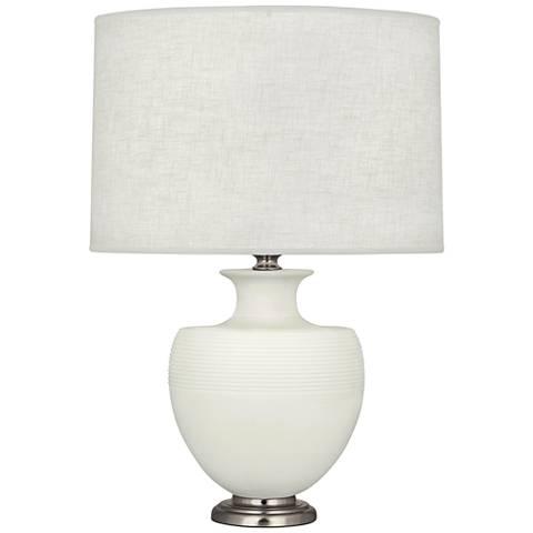 Michael Berman Atlas Nickel and Lily Ceramic Table Lamp