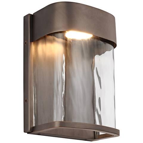 """Feiss Bennie 8"""" High Antique Bronze LED Outdoor Wall Light"""