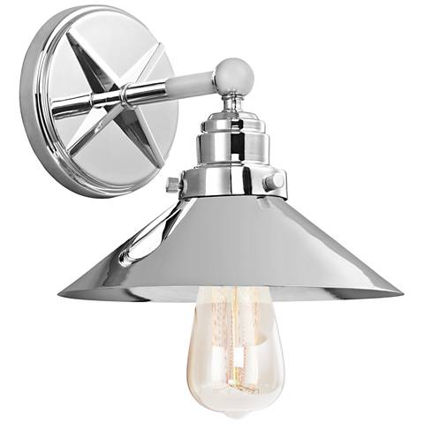 "Feiss Hooper 8 1/4"" High Chrome Industrial Wall Sconce"