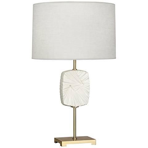 Michael Berman Alberto Flat Lily Modern Brass Table Lamp
