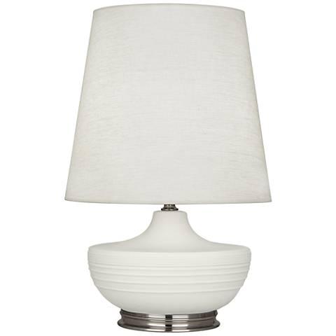 Michael Berman Nolan Nickel and Lily Ceramic Table Lamp
